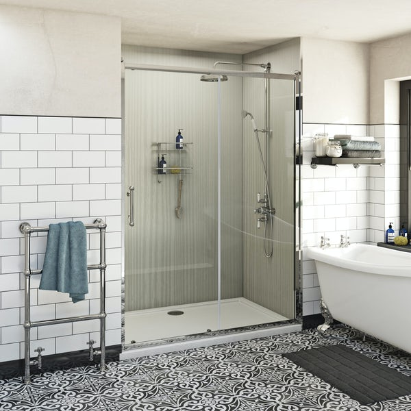 The Bath Co. Winchester traditional 6mm sliding shower door