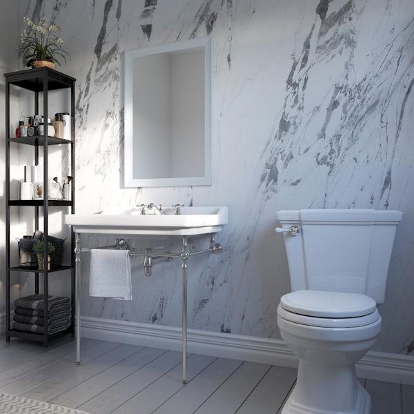Showerwall Lightning Marble waterproof shower wall panel