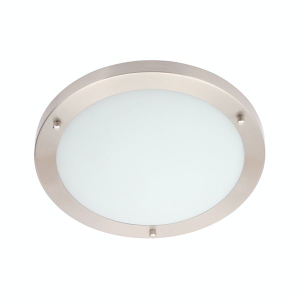 Forum Draco large round flush bathroom ceiling light