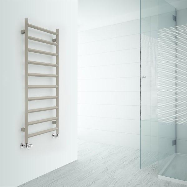 Terma Crystal california beige designer towel rail 1200 x 500