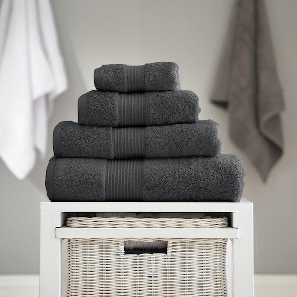 Deyongs Bliss antibacterial 650gsm 6 piece towel bale carbon