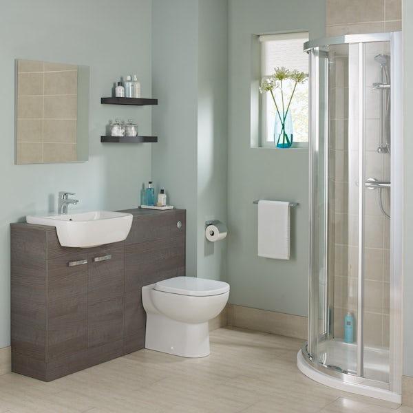 Ideal Standard Tempo complete sandy grey furniture ensuite shower enclosure suite 800 x 800