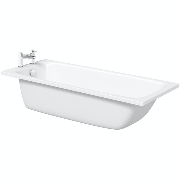 Kaldewei Cayono straight steel bath with leg set