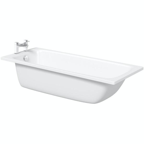 Kaldewei Cayono straight steel bath with leg set