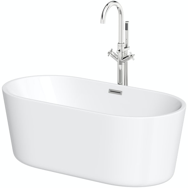 Mode Tate freestanding bath and Tate freestanding tap pack