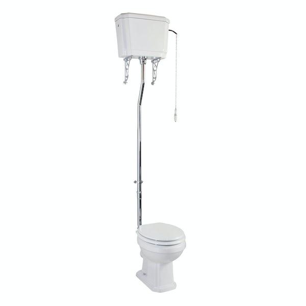The Bath Co. Cromford high level toilet inc white soft close seat