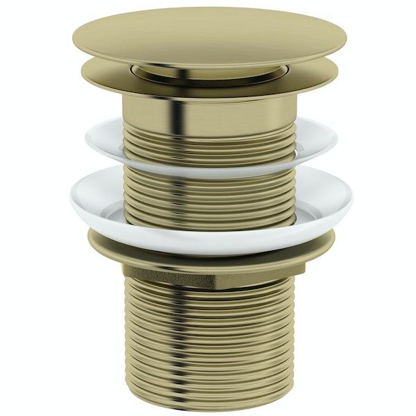 Mode Spencer click clack unslotted brushed brass basin waste