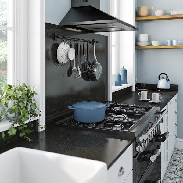Formica Aria 6mm 3600 x 1200 black granite lustre splashback