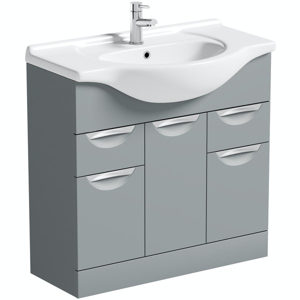 Orchard Elsdon stone grey vanity unit and basin 850mm