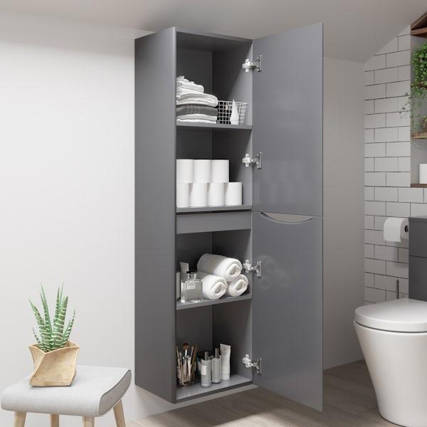 Mode Adler grey wall cabinet