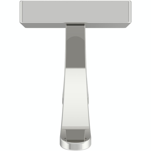 Accents square plate contemporary double robe hook