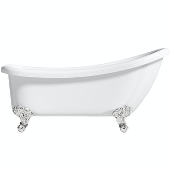 The Bath Co. Winchester slipper freestanding bath with chrome claw feet