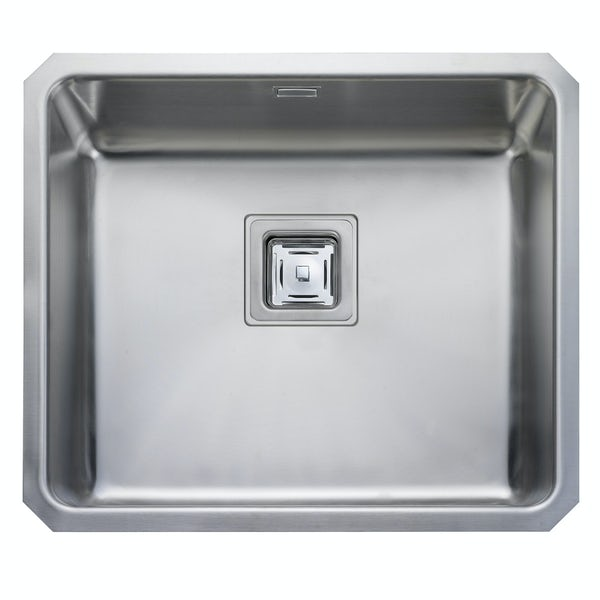 Rangemaster Atlantic Quad 1.0 bowl undermount kitchen sink with waste