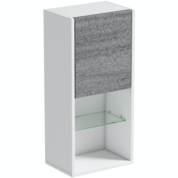Mode Burton ice stone wall storage unit 330mm