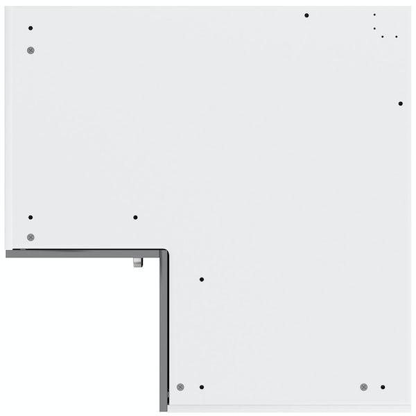 Schon Boston mid grey slab 950mm corner base unit