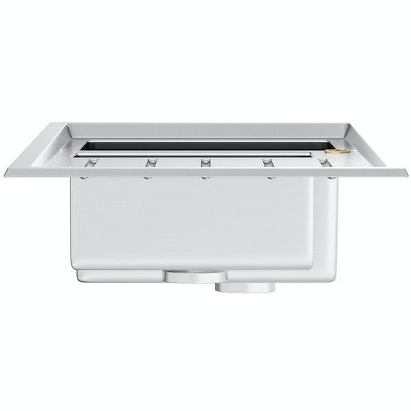Tuscan Arezzo brushed steel 1.5 bowl right handed kitchen sink