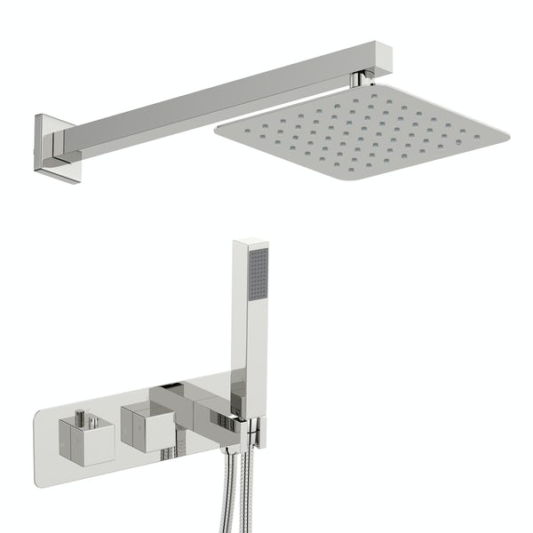 Mode Ellis square concealed thermostatic mixer shower with wall arm