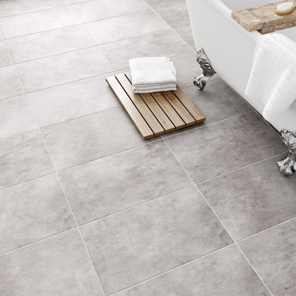 Laura Ashley Heritage Plain Dove Grey Wall Floor Tile