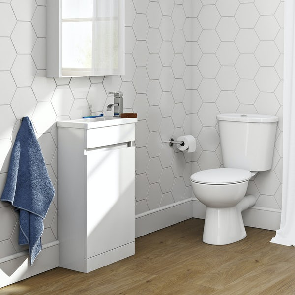 Plan white compact unit with Clarity close coupled toilet