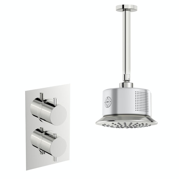 Mode Harrison twin concealed mixer shower with bluetooth head and ceiling arm
