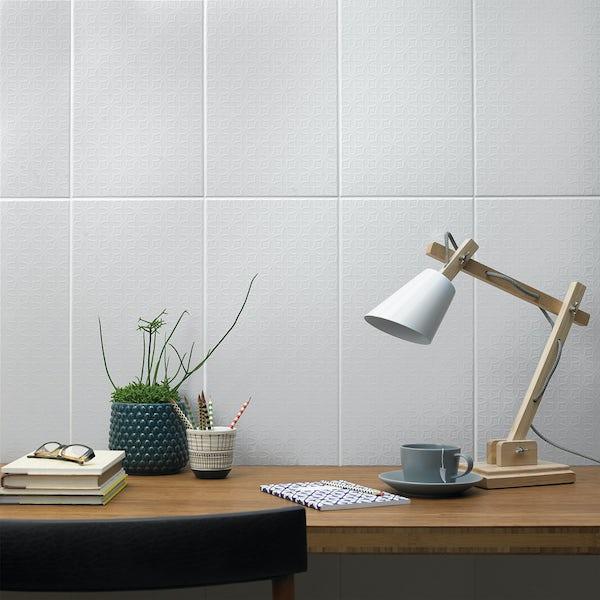 V&A Serenity quatrefoil white matt wall tile 248mm x 498mm