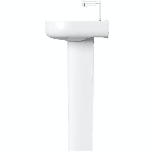Mode Burton full pedestal basin 550mm