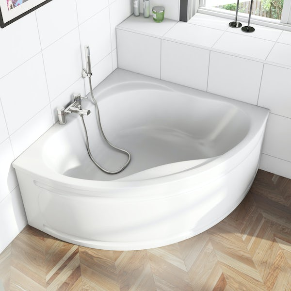 Orchard Wharfe corner bath with panel 1695mm