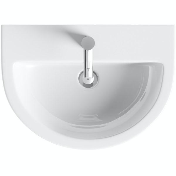 Elena 1 tap hole full pedestal basin 550mm