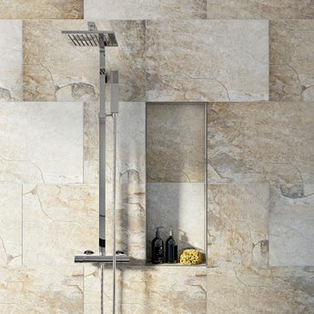 British Ceramic Tile Rocky clay beige matt tile 400mm x 600mm
