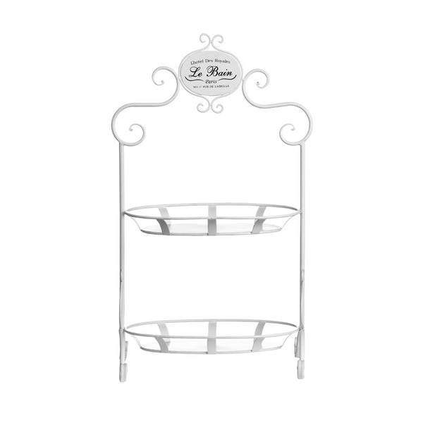 Accents Le bain 2 tier wire cream oval storage shelves