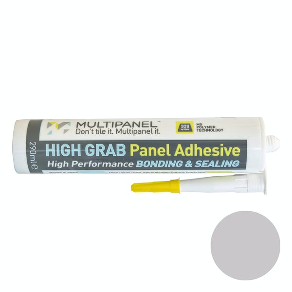 Multipanel sealant and high grab adhesive in light grey