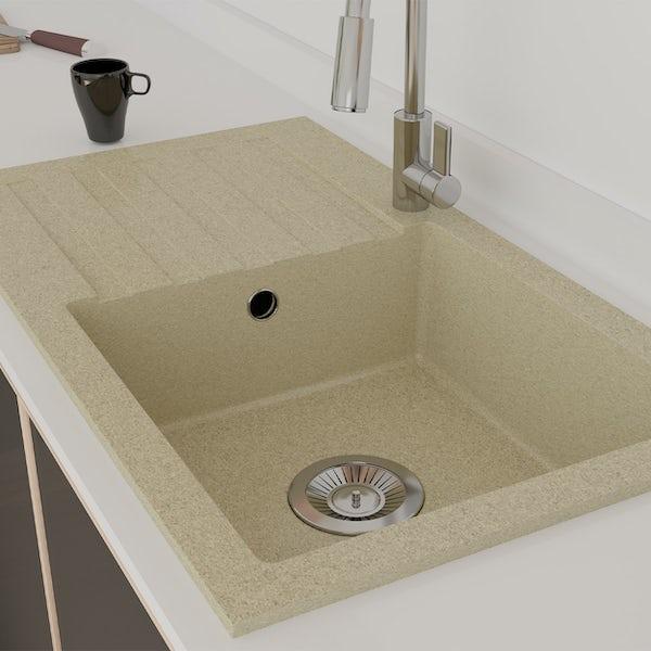 Schon Arola Sand 1.0 bowl reversible countertop kitchen sink