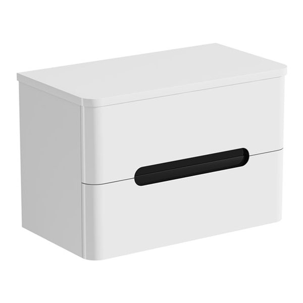 Mode Ellis essen wall hung vanity drawer unit and countertop 800mm