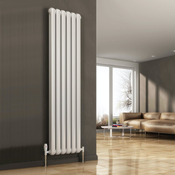 Reina Coneva white vertical steel designer radiator