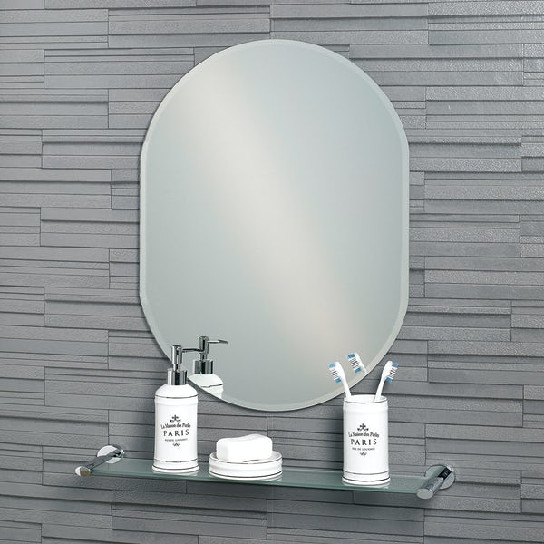 Showerdrape Lincoln 70cm x 50cm oval mirror