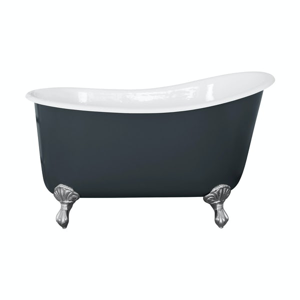 The Bath Co. Berkeley province blue cast iron bath