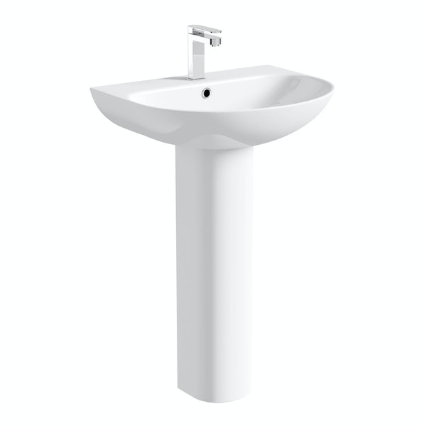 Hardy full pedestal basin 555mm