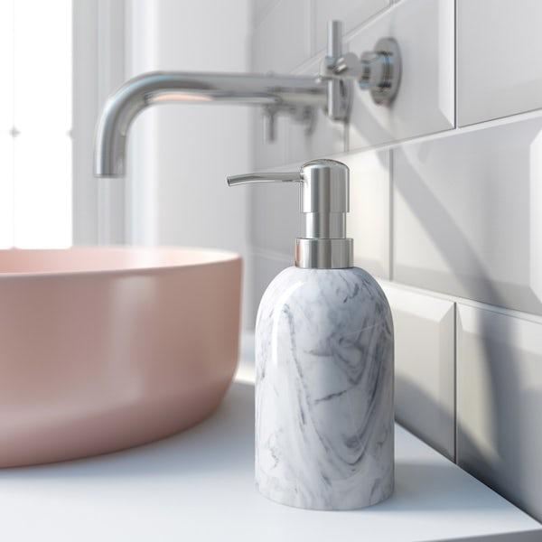 Accents marble effect soap dispenser