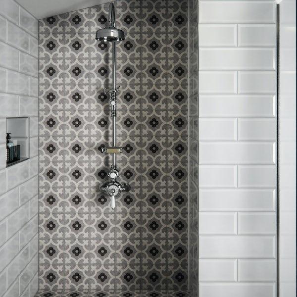 V&A Brompton godwin grey matt wall and floor tile 200mm x 200mm