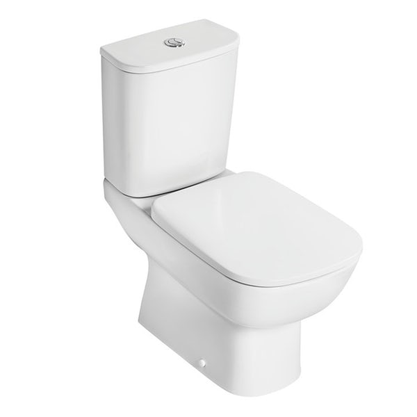 Ideal Standard Studio Echo cloakroom suite with open close coupled toilet and semi pedestal basin 450mm