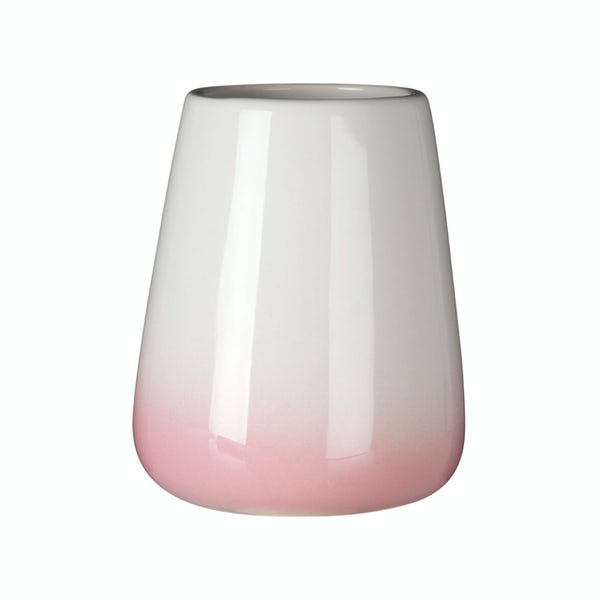 Accents Sunrise dolomite white and pink ombre tumbler