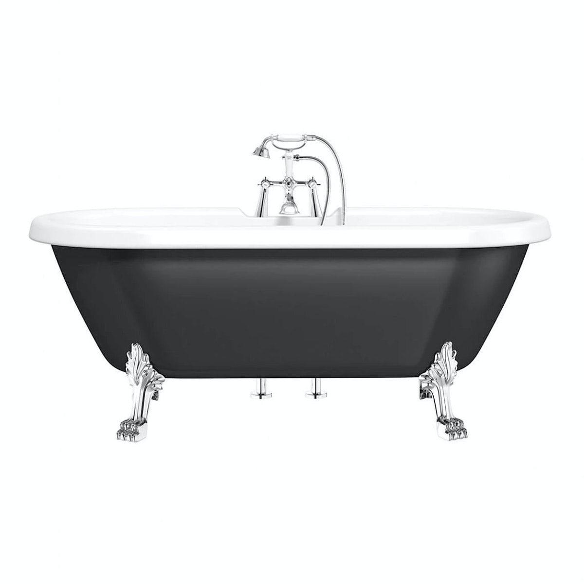 Shakespeare Black Roll Top Bath Waste Victoriaplum Com