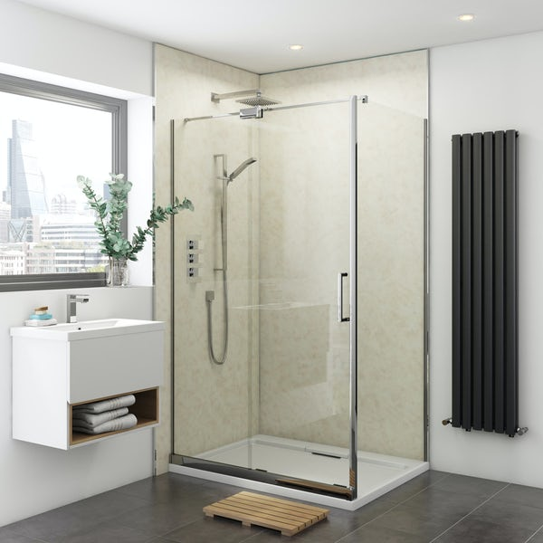 Multipanel Classic Natural India Hydrolock shower wall panel