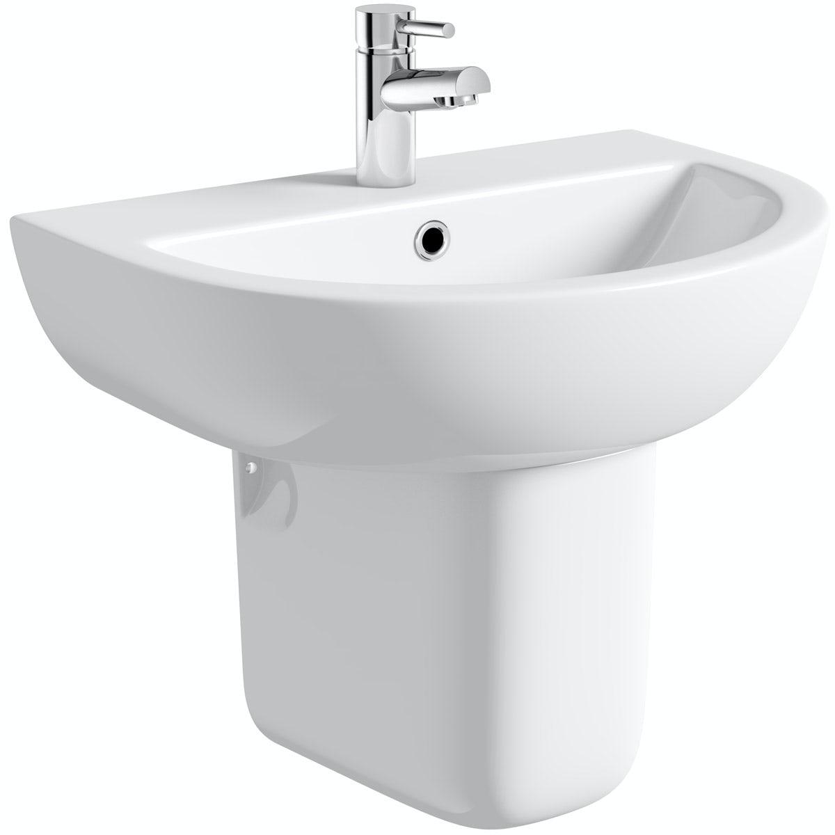 Orchard Elena 1 tap hole semi pedestal basin 450mm