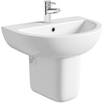 Orchard Elena 1 tap hole semi pedestal basin