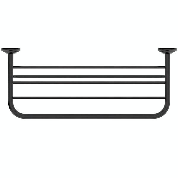 The Bath Co. 1805 black towel shelf