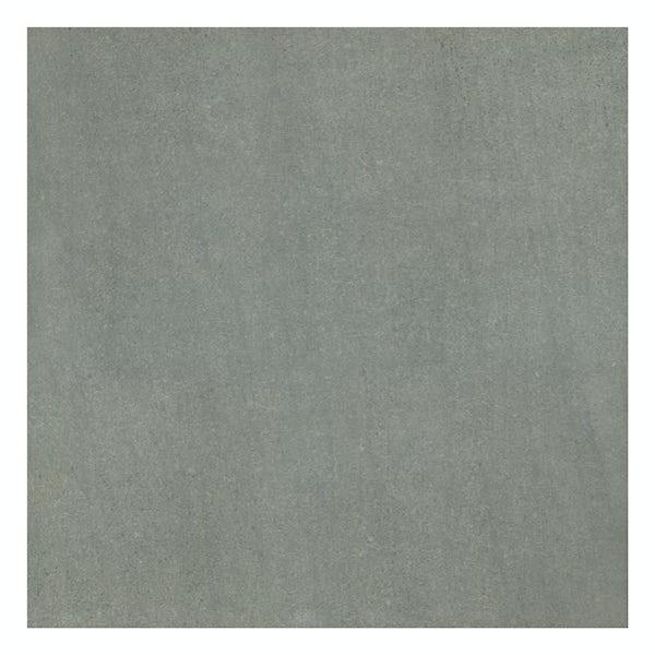 Faro grey stone effect flat matt wall and floor tile 600mm x 600mm