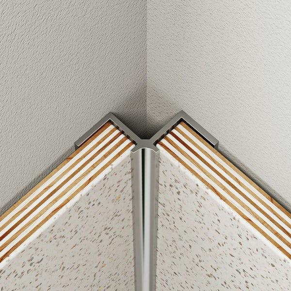 Multipanel Classic type A polished silver internal corner profile