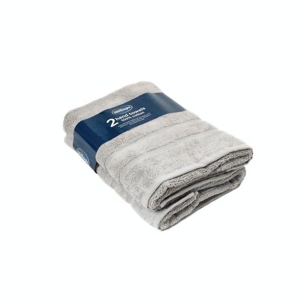 Silentnight Set of 2 Grey Hand Towel