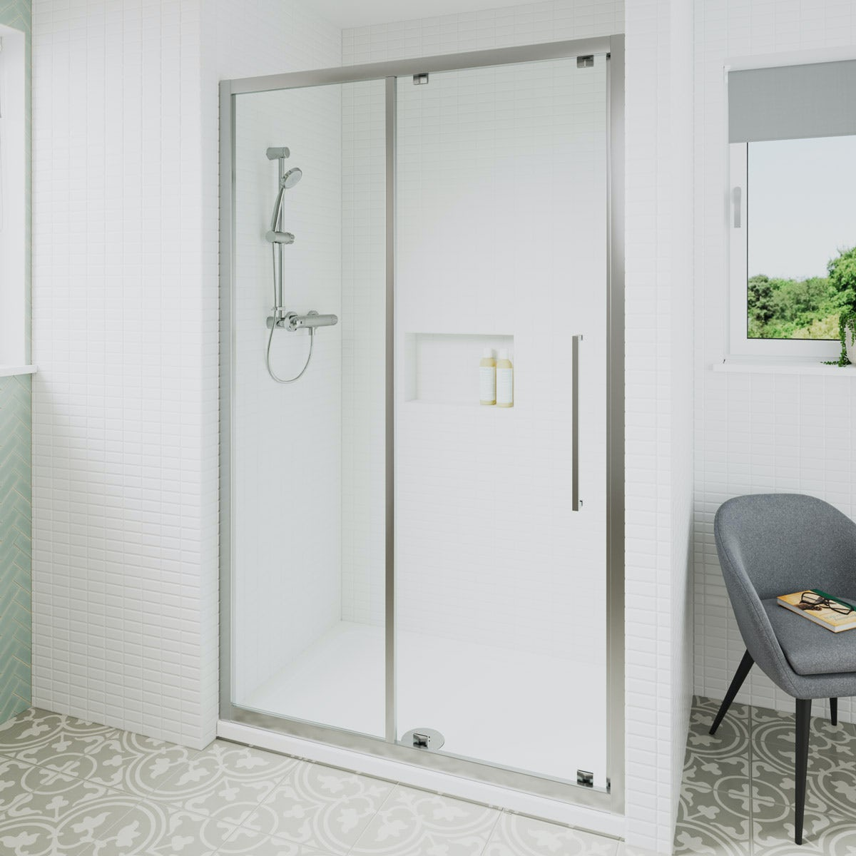 Ideal Standard 6mm sliding door rectangular shower door 1200